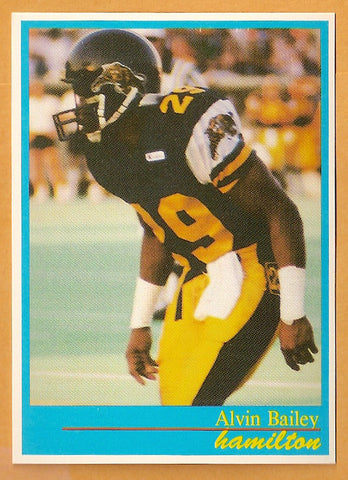 Alvin Bailey CFL card 1987 Jogo #69 Hamilton Tiger-Cats  Alcorn State Braves