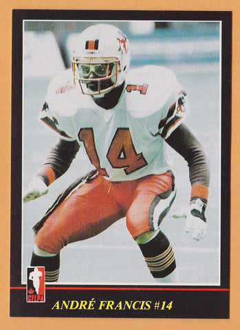 Andre Francis CFL card 1986 Jogo #113 BC Lions  New Mexico State Aggies