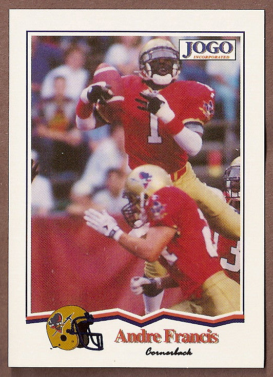 Andre Francis CFL card 1994 Jogo #112 Ottawa Rough Riders  New Mexico State Aggies