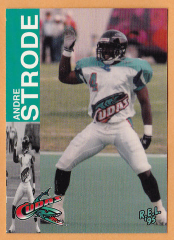 Andre Strode CFL card 1995 REL #215 Birmingham Barracudas  Colorado State Rams