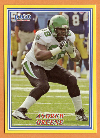 Andrew Greene CFL card 2004 Jogo #234 Saskatchewan Roughriders  Indiana Hoosiers
