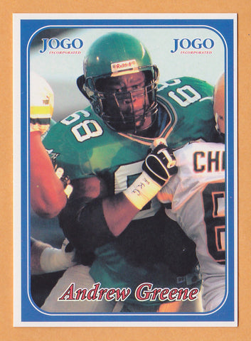 Andrew Greene CFL card 2003 Jogo #49 Saskatchewan Roughriders  Indiana Hoosiers