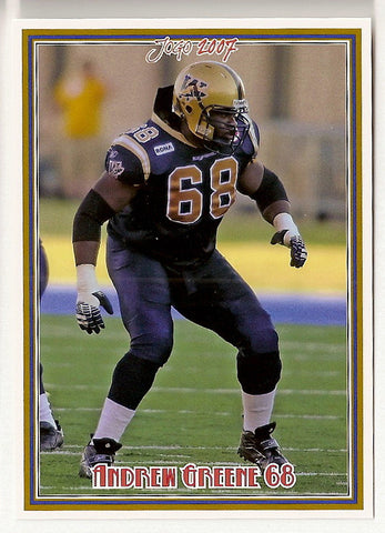 Andrew Greene CFL card 2007 Jogo #120 Winnipeg Blue Bombers  Indiana Hoosiers