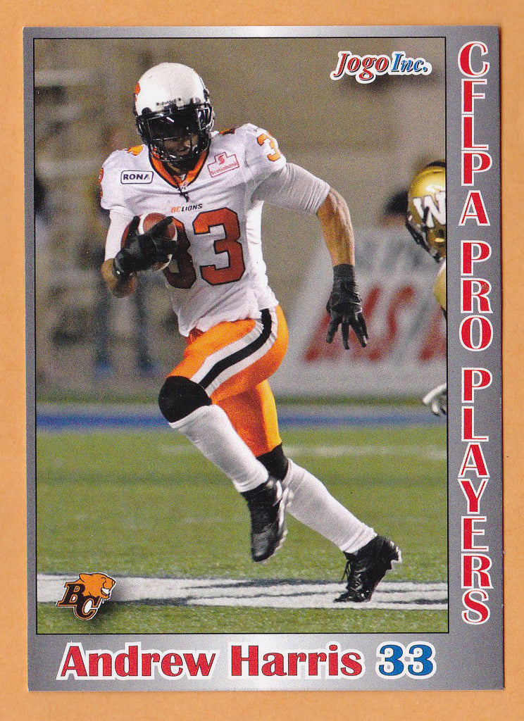 Andrew Harris CFL card 2012 Jogo Pro Player #6 BC Lions  Vancouver Island Raiders