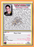 Andy Fantuz CFL card 2012 Jogo Pro Player #203 Hamilton Tiger-Cats  Western Ontario Mustangs