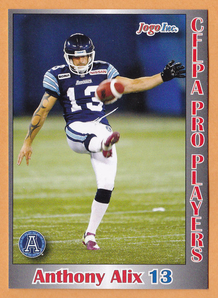 Anthony Alix CFL card 2012 Jogo Pro Player #112 Toronto Argonauts  St. Francis Xavier X-Men