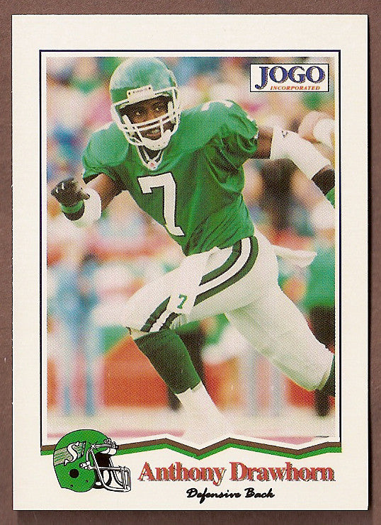 Anthony Drawhorn CFL card 1994 Jogo #179 Saskatchewan Roughriders  UNLV Rebels