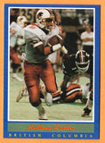 Anthony Parker CFL card 1988 Jogo #93 B.C. Lions  Memphis State Tigers