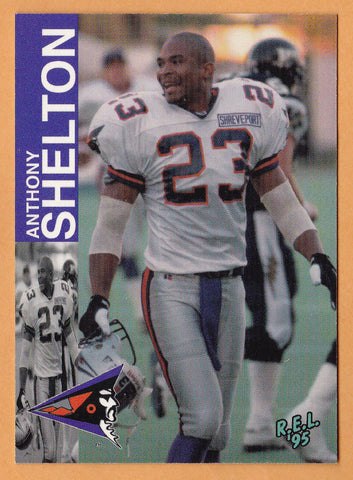 Anthony Shelton CFL card 1995 REL #126 Shreveport Pirates  Tennessee State Tigers
