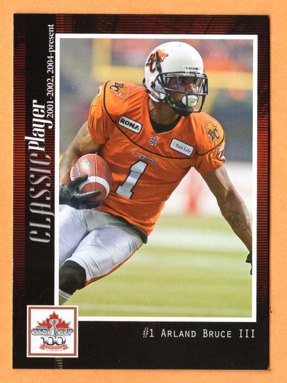 Arland Bruce CFL card 2012 Extreme B.C. Lions  Minnesota Golden Gophers