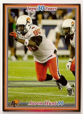 Aaron Hunt CFL card 2010 Jogo #115 BC Lions  Texas Tech Red Raiders