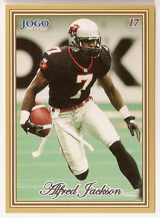 Alfred Jackson CFL card 2001 Jogo #17 BC Lions  San Diego State Aztecs
