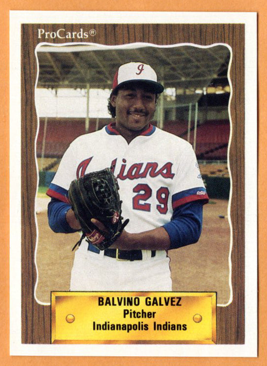 Balvino Galvez 1990 Indianapolis Indians Minor League Baseball  San Pedro de Macoris, Dominican Republic