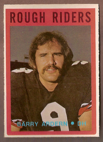 Barry Ardern CFL card 1972 O-Pee-Chee #74 Ottawa Rough Riders  Ottawa Sooners