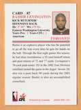 Bashir Levingston CFL card 2003 Jogo #87 Toronto Argonauts  Eastern Washington Eagles