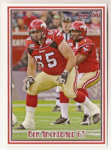 Ben Archibald CFL card 2008 Jogo #64 Calgary Stampeders  Brigham Young Cougars
