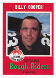 Billy Cooper CFL card 1971 O-Pee-Chee #78 Ottawa Rough Riders  Winnipeg Rods