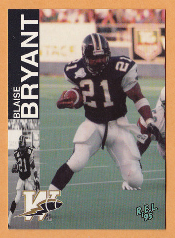 Blaise Bryant CFL card 1995 REL #224 Winnipeg Blue Bombers  Iowa State Cyclones