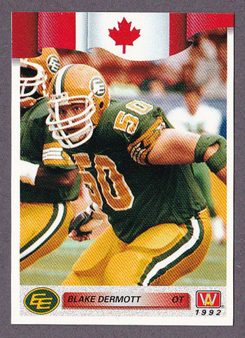 Blake Dermott CFL card 1992 All World #90 Edmonton Eskimos  Alberta Golden Bears