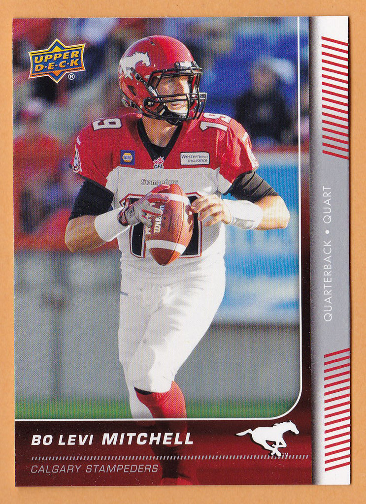 Bo Levi Mitchell 2015 Upper Deck CFL card #5 Calgary Stampeders  Eastern Washington Eagles