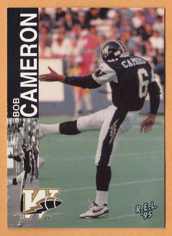 Bob Cameron CFL card 1995 REL #221 Winnipeg Blue Bombers  Acadia Axemen  Hall of Fame