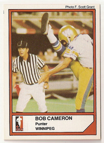 Bob Cameron CFL card 1984 Jogo #83 Winnipeg Blue Bombers  Acadia Axemen  Hall of Fame