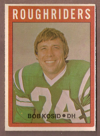 Bob Kosid CFL card 1972 O-Pee-Chee #91 Saskatchewan Roughriders  Kentucky Wildcats