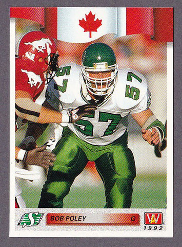 Bob Poley CFL card 1992 All World #162 Saskatchewan Roughriders  Regina Rams