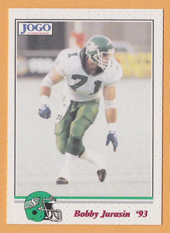 Bobby Jurasin CFL card 1993 Jogo #53 Saskatchewan Roughriders  Northern Michigan Wildcats  Hall of Fame