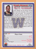 Brady Browne CFL card 2012 Jogo #115 Winnipeg Blue Bombers  Manitoba Bisons