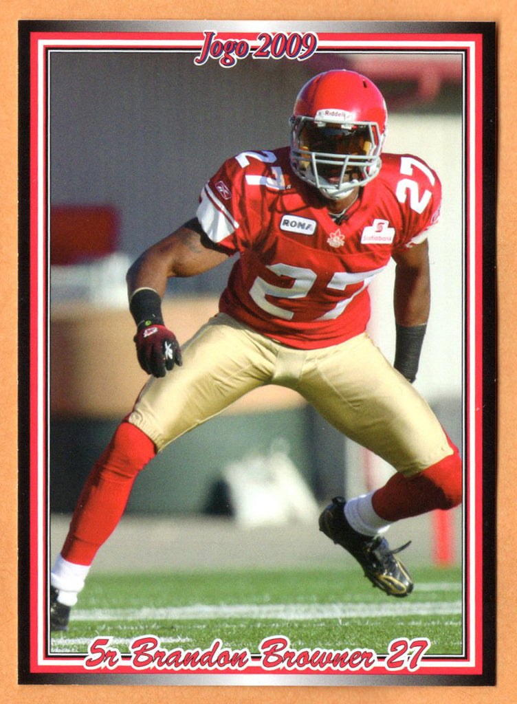 Brandon Browner CFL card 2009 Jogo rookie shortprint #5R Calgary Stampeders  Oregon State Beavers