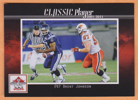 Brent Johnson CFL card 2012 Extreme BC Lions  Ohio State Buckeyes