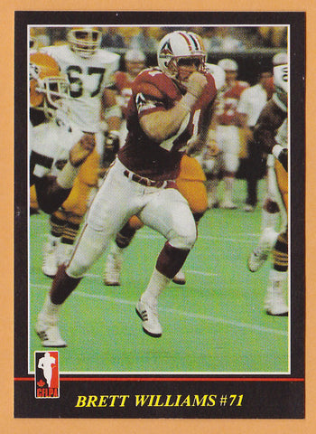 Brett Williams CFL card 1986 Jogo #152 Montreal Concordes  Austin Peay State Governors