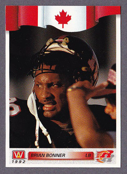 Brian Bonner CFL card 1992 All World #66 Ottawa Rough Riders  Minnesota Golden Gophers