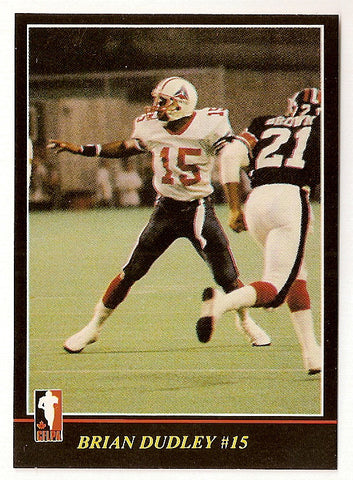 Brian Dudley CFL card 1986 Jogo #53 Montreal Concordes  Bethune Cookman Wildcats
