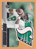 Brian Roberson 2003 Pacific Atomic CFL card #76 Saskatchewan Roughriders  Fresno State Bulldogs