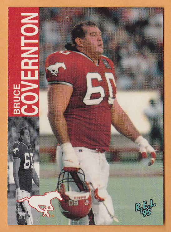 Bruce Covernton CFL card 1995 REL #2 Calgary Stampeders  Weber State Wildcats