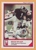 Bruce Walker CFL card 1984 Jogo McDonalds Ottawa Rough Riders  Windsor Lancers
