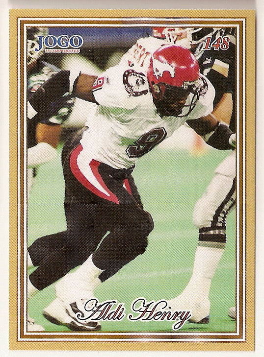 Aldi Henry CFL card 2001 Jogo #148 Calgary Stampeders  Michigan State Spartans