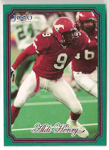Aldi Henry CFL card 2002 Jogo #3 Calgary Stampeders  Michigan State Spartans