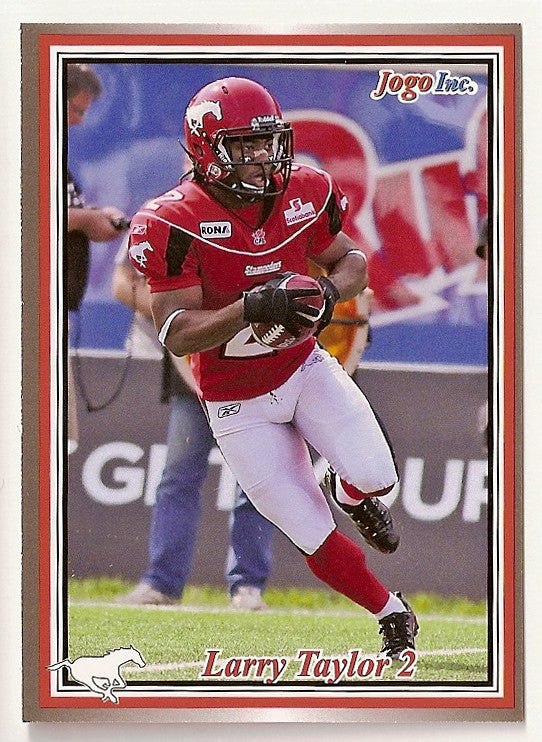 Larry Taylor CFL card 2011 Jogo #71 Calgary Stampeders  Connecticut UConn Huskies
