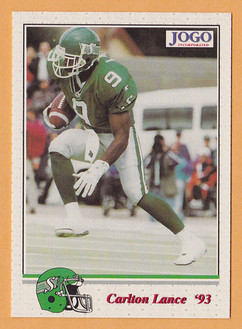 Carlton Lance CFL card 1993 Jogo #130 Saskatchewan Roughriders  Southwest State Mustangs
