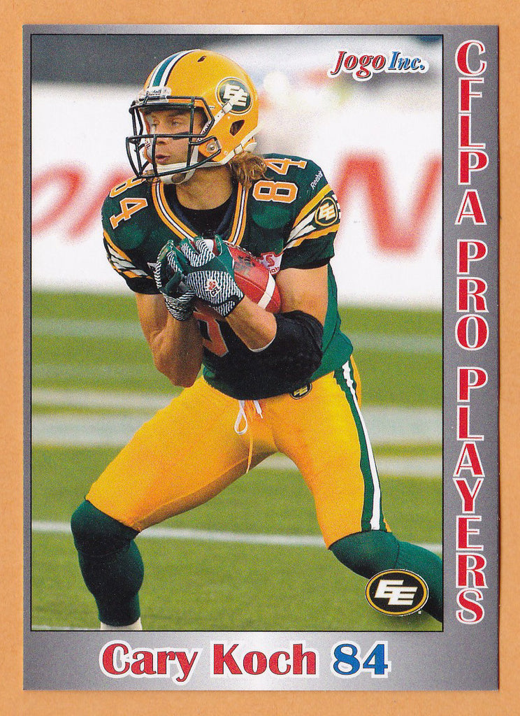 Cary Koch CFL card 2012 Jogo Pro Player #86 Edmonton Eskimos  Virginia Cavaliers
