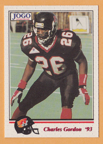 Charles Gordon CFL card 1993 Jogo #117 Ottawa Rough Riders  Eastern Michigan Eagles