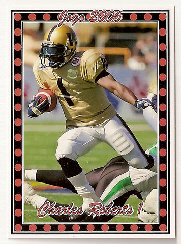 Charles Roberts CFL card 2006 Pro Player Jogo #7 Winnipeg Blue Bombers  Sacramento State Hornets  Hall of Fame