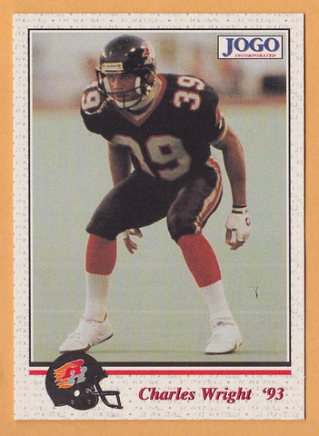 Charles Wright CFL card 1993 Jogo #115 Ottawa Rough Riders  Tulsa Golden Hurricanes