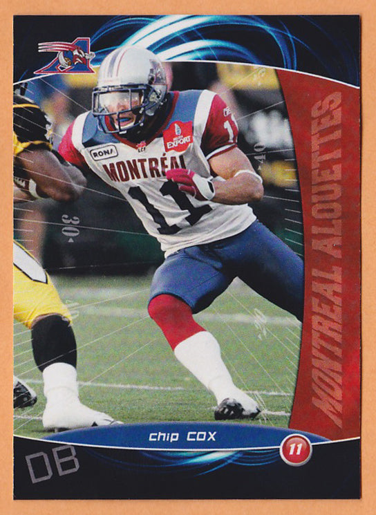 Chip Cox CFL card 2008 Extreme #5 Montreal Alouettes  Ohio Bobcats