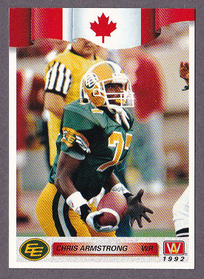 Chris Armstrong CFL card 1992 All World #120 Edmonton Eskimos  Fayetteville State Broncos