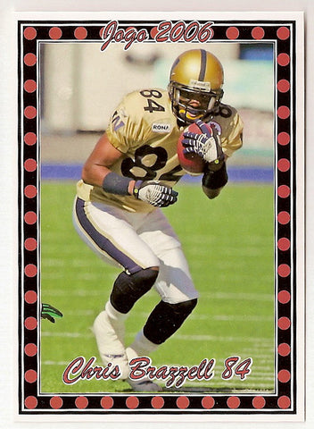 Chris Brazzell CFL card 2006 Pro Player Jogo #18 Winnipeg Blue Bombers  Angelo State Rams