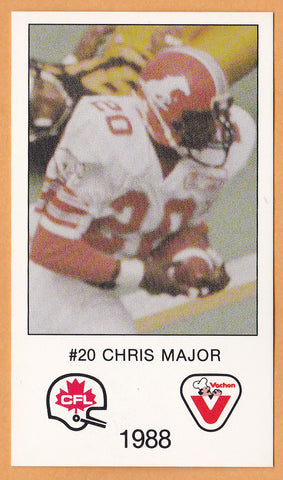Chris Major CFL card 1988 Vachon Calgary Stampeders  South Carolina Gamecocks